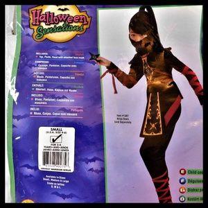 Girl's Warrior Ninja Halloween Costume 4-6